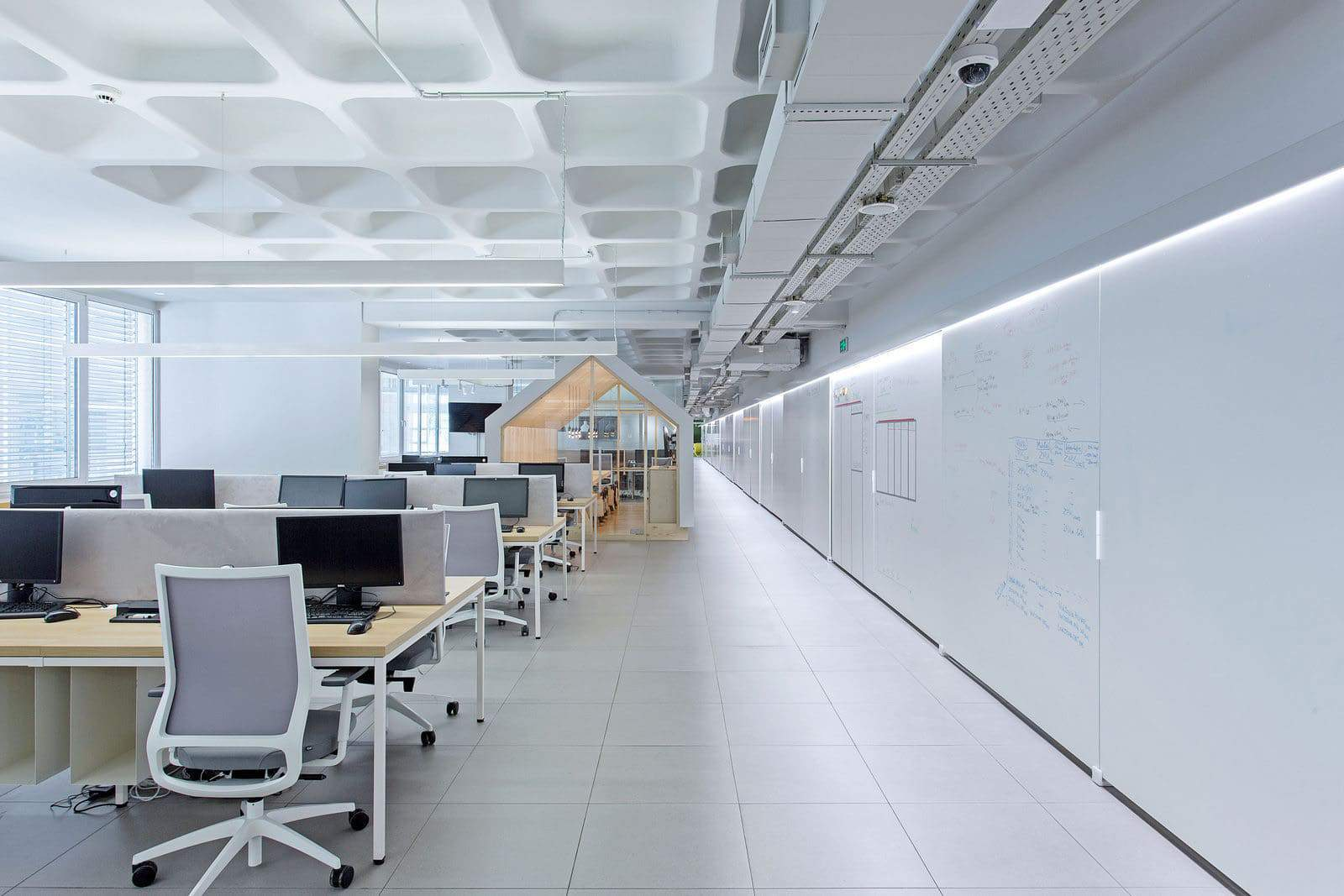 Bright white office space