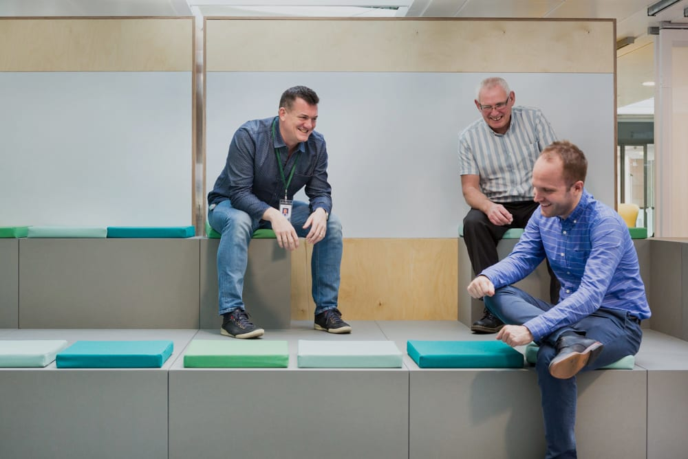Workagile Huddlebox Tiered Seating in use